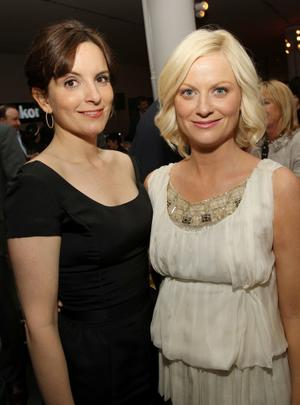 "Tina Fey and Amy Poehler at the after party of the New York premiere of ""Baby Mama"" during the 2008 Tribeca Film Festival."