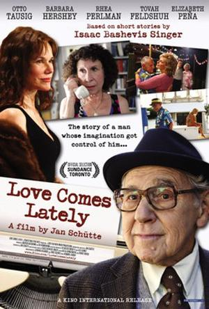 "Poster art for ""Love Comes Lately."""
