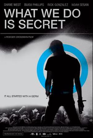 "Poster art for ""What We Do Is Secret."""