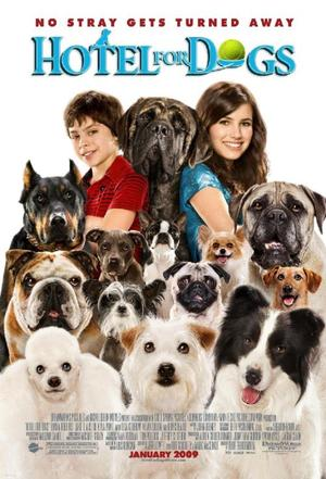 """Poster Art for """"Hotel for Dogs."""""""