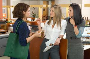 "Ginnifer Goodwin as Gigi, Jennifer Aniston as Beth and Jennifer Connelly as Janine in ""He's Just Not That Into You."""