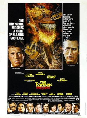 """Poster art for """"The Towering Inferno."""""""