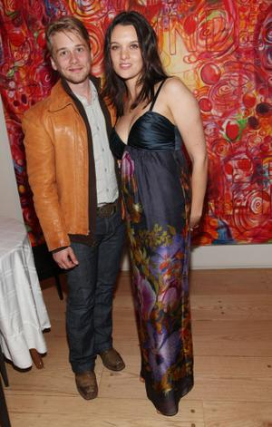 "Lou Taylor Pucci and Frankie Shaw at the after party of the New York premiere of ""Explicit Ills."""