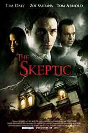 """Poster art for """"The Skeptic."""""""