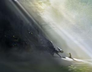 "Concept art from ""How to Train Your Dragon."""