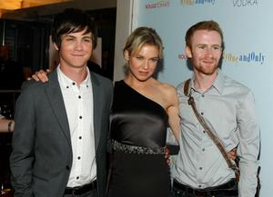 """Logan Lerman, Renee Zellweger and Mark Rendall at the New York premiere of """"My One And Only."""""""
