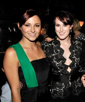 "Briana Evigan and Rumer Willis at the after party of the California premiere of ""Sorority Row."""