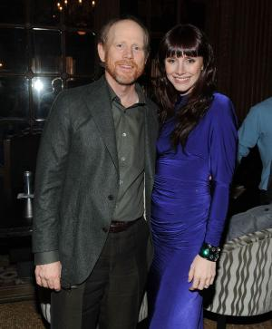 """Ron Howard and Bryce Dallas Howard at the after party of the New York premiere of """"The Loss of a Teardrop Diamond."""""""