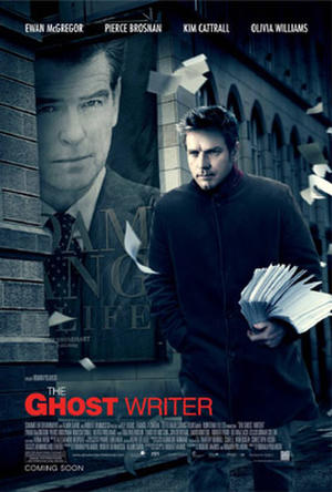"Poster art for ""The Ghost Writer."""