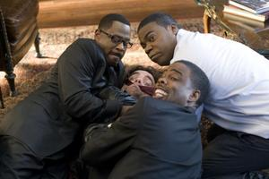 "Martin Lawrence, Peter Dinklage, Tracy Morgan and Chris Rock in ""Death at a Funeral."""