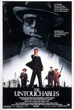 "Poster art for ""The Untouchables."""
