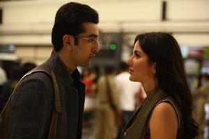 "Ranbir Kapoor and Katrina Kaif in ""Raajneeti."""