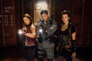 "Ali Larter, Wentworth Miller and Milla Jovovich in ""Resident Evil: Afterlife."""