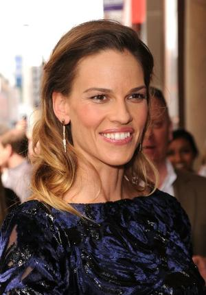 "Hilary Swank at the Canada premiere of ""Conviction."""