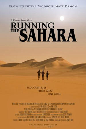 """Poster art for """"Running the Sahara"""""""