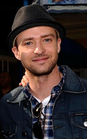"Justin Timberlake at the California premiere of ""Yogi Bear."""