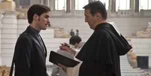 "Colin O'Donoghue as Michael Kovak and Ciaran Hinds as Father Xavier in ""The Rite."""