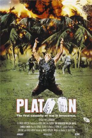 """Poster art for """"Platoon."""""""