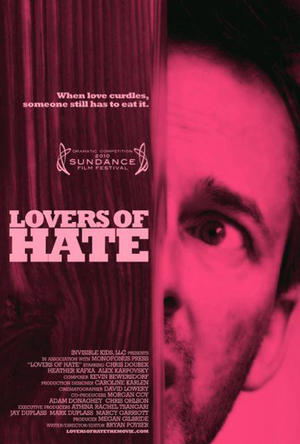 """Poster art for """"Lovers of Hate."""""""