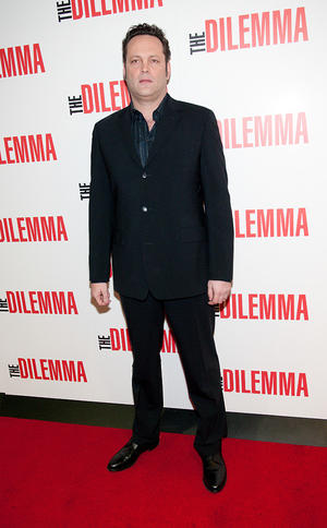 """Vince Vaughn at the Illinois premiere of """"The Dilemma."""""""