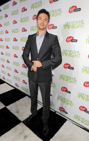 "Topher Grace at the California premiere of ""Take Me Home Tonight."""