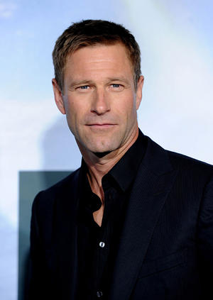 "Aaron Eckhart at the California premiere of ""Battle: Los Angeles."""