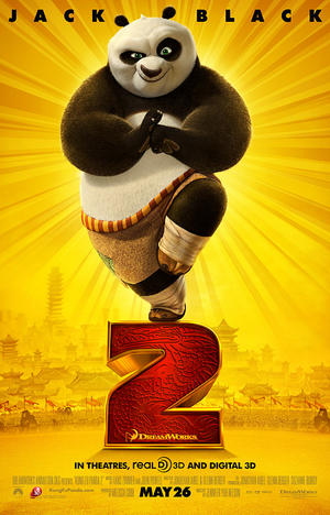 "Poster art for ""Kung Fu Panda 2."""