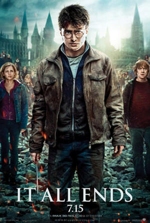 "Poster art for ""Harry Potter and the Deathly Hallows Part 2: An IMAX 3D Experience."""
