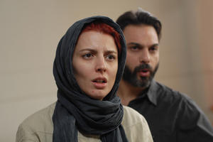 "Leila Hatami as Simin and Peyman Moaadi as Nader in ""A Separation."""