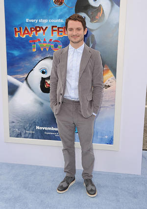 "Elijah Wood at the California premiere of ""Happy Feet Two."""