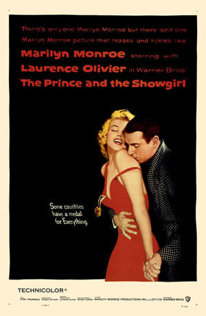 "Poster art for ""The Prince and the Showgirl."""