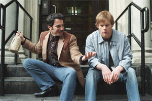 "Chris Messina and Michael C. Hall in ""The Trouble with Bliss."""