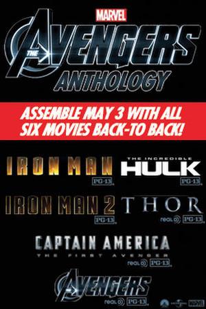 """Poster art for """"Avengers Anthology."""""""