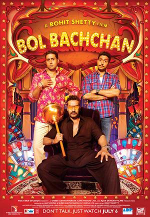 "Poster art for ""Bol Bachchan."""