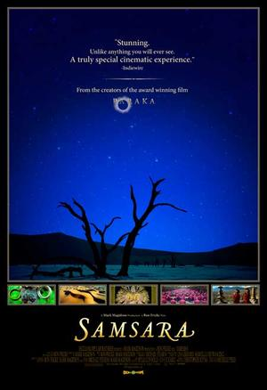 "Poster art for ""Samsara."""