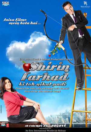 "Poster art for ""Shirin Farhad Ki Toh Nikal Padi."""