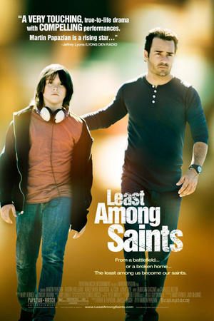 "Poster art for ""Least Among Saints."""