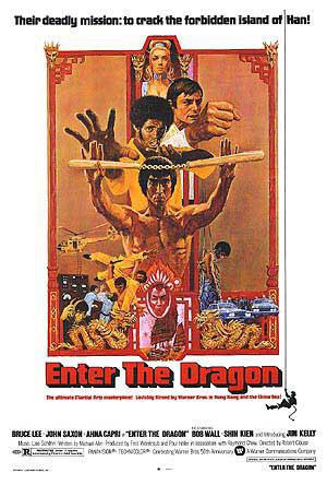"Poster art for ""Enter the Dragon."""