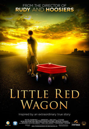 """Poster art for """"Little Red Wagon."""""""