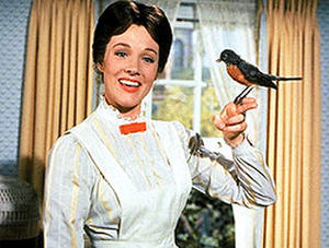 "Julie Andrews in ""Mary Poppins."""