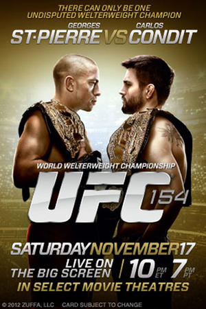 "Poster art for ""UFC 154: St-Pierre vs. Condit."""