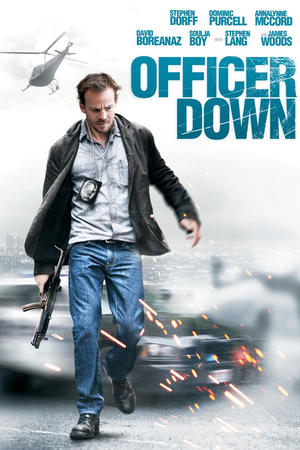 "Poster art for ""Officer Down."""