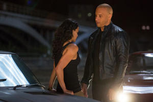 "Dom (Vin Diesel) and Letty (Michelle Rodriguez) in ""Fast & Furious 6."""