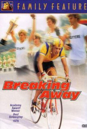 "Poster art for ""Breaking Away."""