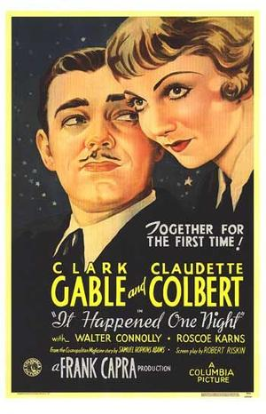 """Poster art for """"It Happened One Night."""""""