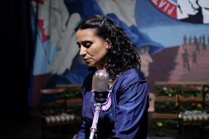 """Francisca Gavilan as Violeta Parra in """"Violeta Went to Heaven."""""""