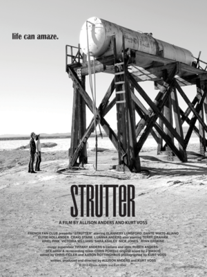 """Poster art for """"Strutter."""""""