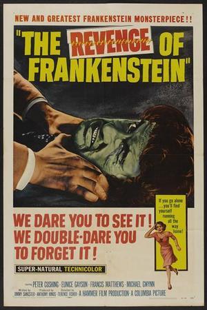 """Poster art for """"The Revenge of Frankenstein."""""""