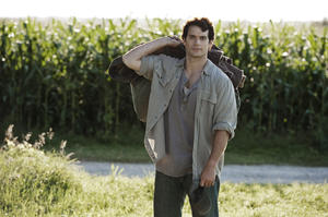 "Henry Cavill as Clark Kent in ""Man of Steel."""