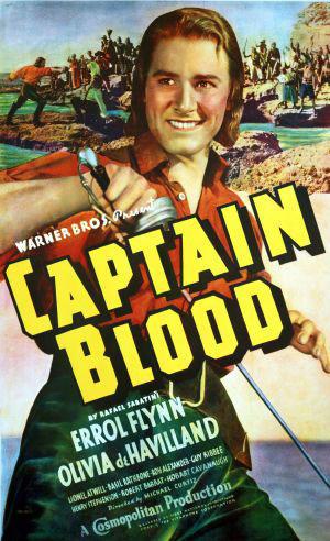 "Poster art for ""Captain Blood."""